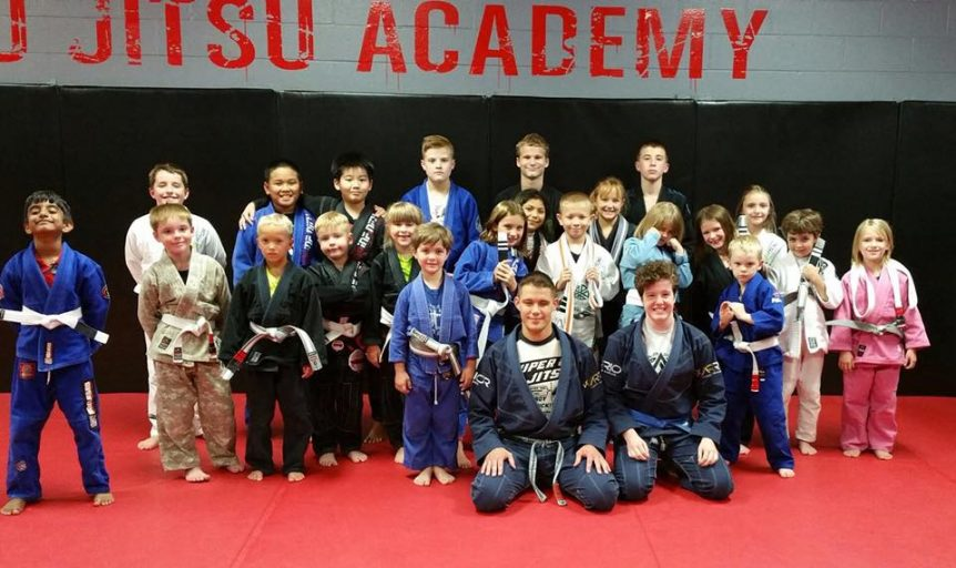 Brazilian Jiu-Jitsu Kid's class with Black Belt James Clingerman and Christine Ramion, Greenwood, Indiana