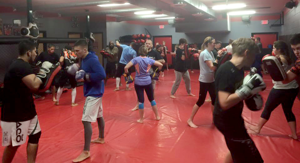 Kickboxing at IBJJA, Greenwood Indiana