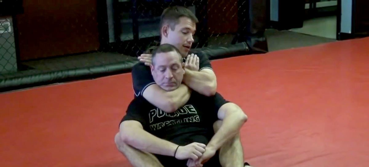 James Clingerman teaches the Rear Naked Choke at Indiana Brazilian Jiu-Jitsu Academy in Greenwood Indiana