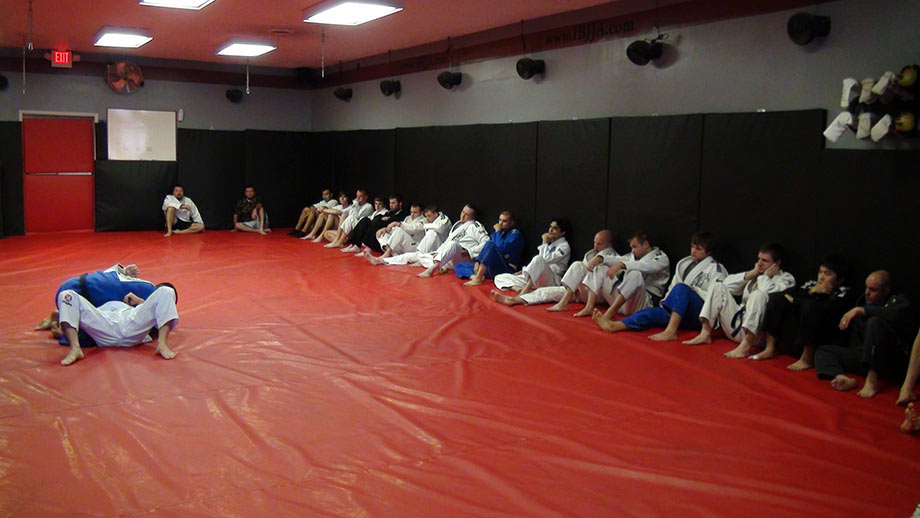 Photo of a Brazilian Jiu-Jitsu class at Indiana Brazilian Jiu-Jitsu Academy.