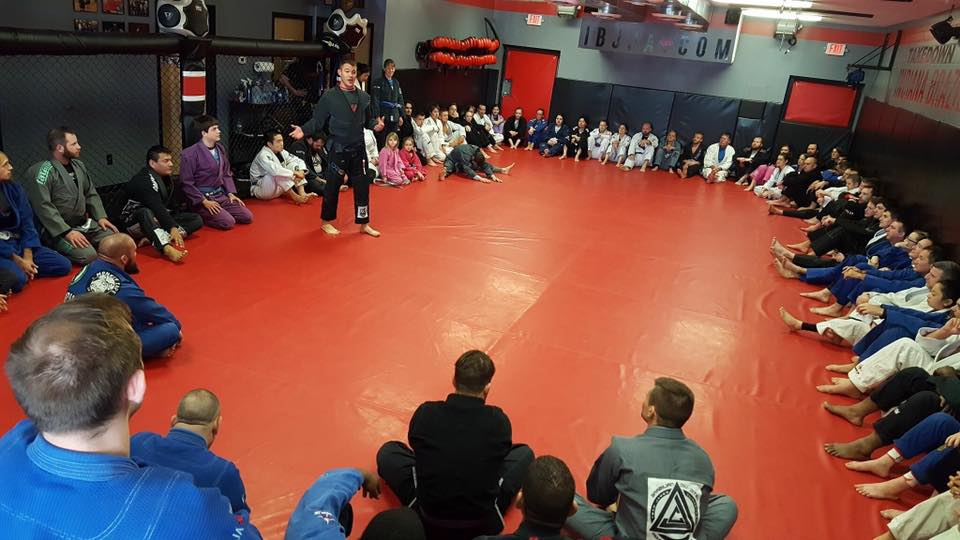 James Clingerman talking at Hatsu Geiko Indiana Brazilian Jiu-Jitsu Academy 2017