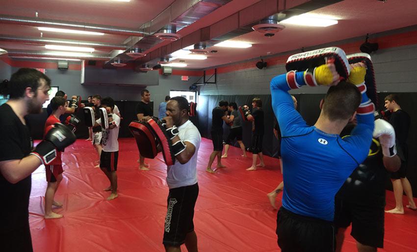 Kickboxing class at Indiana Brazilian Jiu-Jitsu Academy