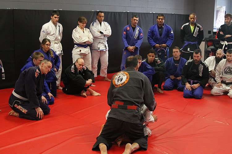 Master Anibal Braga teaching a seminar at Indiana Brazilian Jiu-Jitsu Academy.