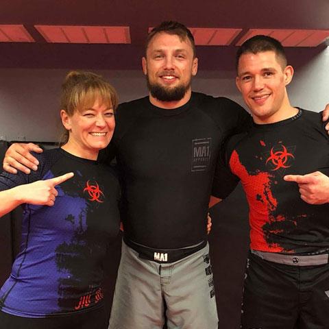 Indiana Brazilian Jiu-Jitsu Academy Coach James Clingerman with Craig Jones.