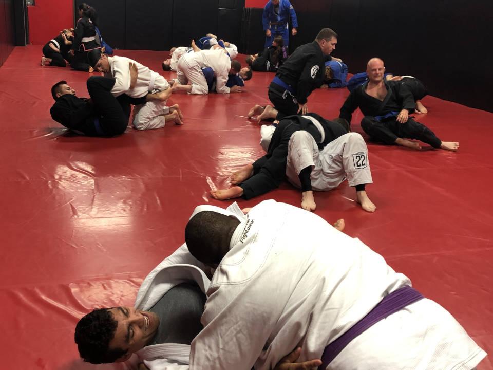 Photo of Brazilian Jiu-Jitsu sparring at Indiana Brazilian Jiu-Jitsu Academy