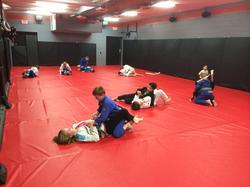 Photo of kids' sparring at Indiana Brazilian Jiu-Jitsu Academy