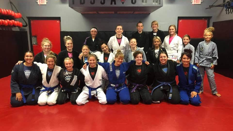 Photo of the women of Indiana Brazilian Jiu-Jitsu Academy