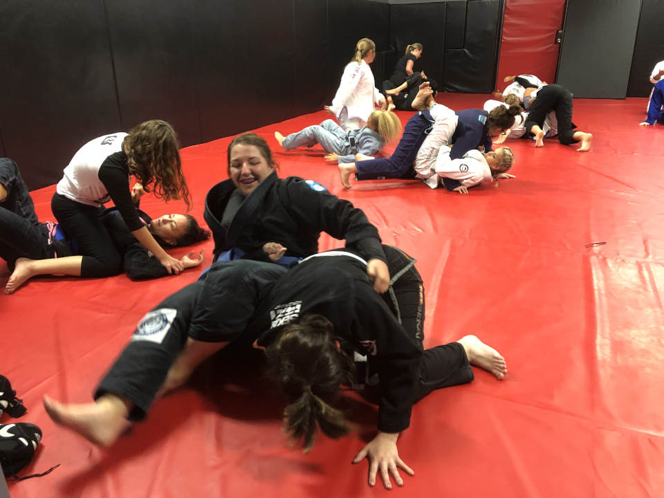 Women's-Only Brazilian Jiu-Jitsu class at Indiana Brazilian Jiu-Jitsu Academy