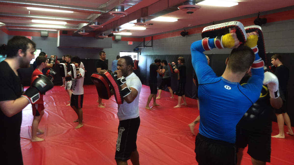 Photo of the Kickboxing class at Indiana Brazilian Jiu-Jitsu Academy