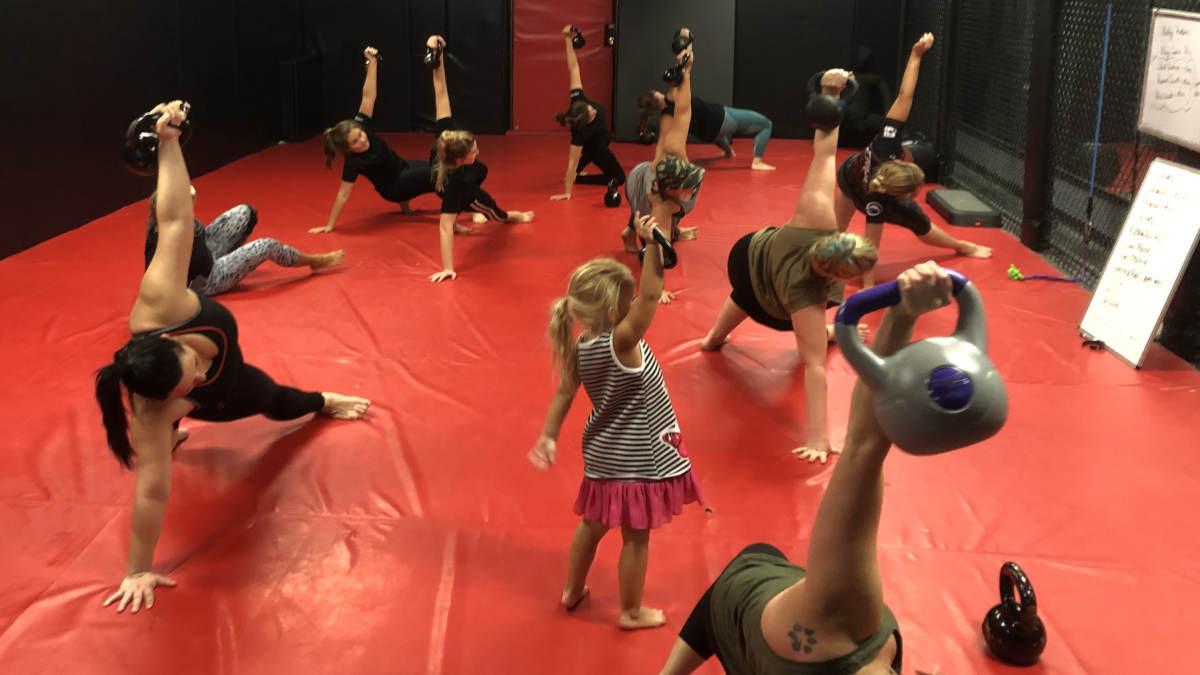 Photo of the Women's-Only Bootcamp class at Indiana Brazilian Jiu-Jitsu Academy