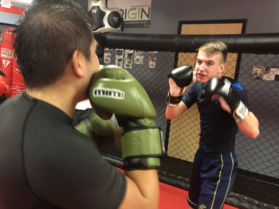 Photo of Kickboxing sparring at Indiana Brazilian Jiu-Jitsu Academy