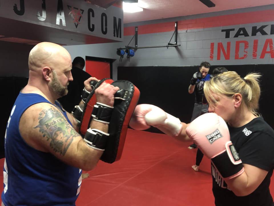 Photo of Kickboxing class at Indiana Brazilian Jiu-Jitsu Academy