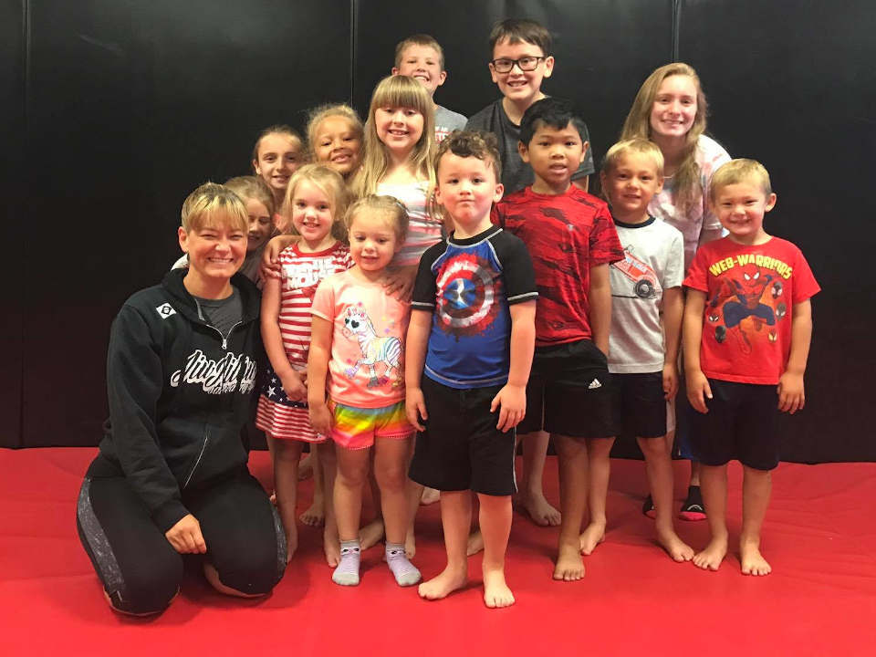 Photo of the kids who train at Indiana Brazilian Jiu-Jitsu Academy
