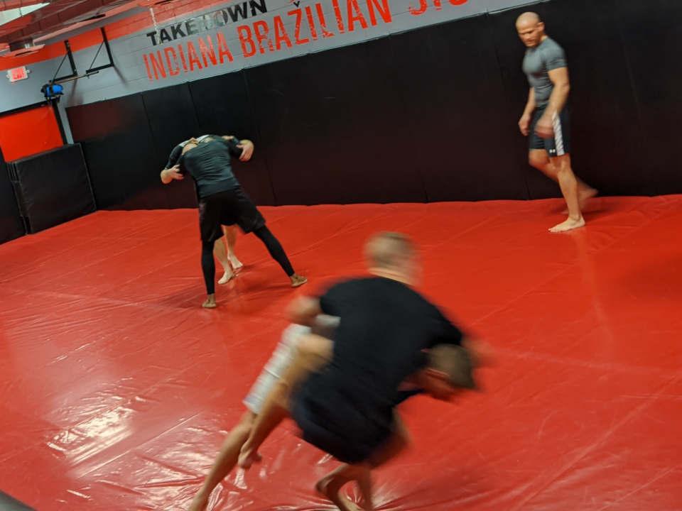 Photo of Wrestling class at Indiana Brazilian Jiu-Jitsu Academy